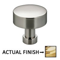 "Omnia Industries - Ultima II - 1"" Diameter Knob in Satin Brass Lacquered"