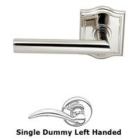 Omnia Industries - Prodigy - Single Dummy Modern Left-Handed Lever with Arch Rose in Polished Nickel