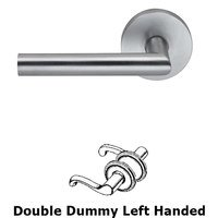 Omnia Industries - Prodigy - Double Dummy Modern Left-Handed Lever with Modern Rose in Satin Chrome