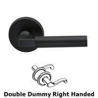 Omnia Industries - Door Levers - Double Dummy Barrel Right Handed Lever with Plain Rosette in Oil Rubbed Bronze Lacquered