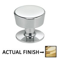 "Omnia Industries - Ultima II - 1"" Parfait Knob in Polished Brass Lacquered"