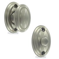 Omnia Industries - Privacy Bolt - Traditions Radial Mortise Privacy Bolt in Satin Nickel Lacquered