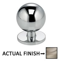 "Omnia Industries - Ultima II - 1 3/16"" Round Knob with Back Plate in Polished Chrome"