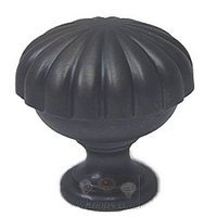 "Omnia Industries - Classic & Modern - 1 3/8"" Melon Knob in Oil Rubbed Bronze Lacquered"