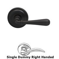 Omnia Industries - Door Levers - Single Dummy Traditions Right Handed Lever with Radial Rosette in Oil Rubbed Bronze Lacquered