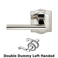 Omnia Industries - Wedge Prodigy - Double Dummy Wedge Left-Handed Lever with Arched Rose in Polished Nickel Plated, Lacquered
