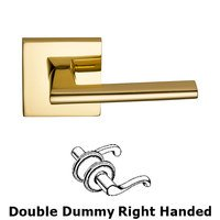 Omnia Industries - Wedge Prodigy - Double Dummy Wedge Right-Handed Lever with Square Rose in Polished Brass Lacquered