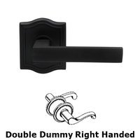 Omnia Industries - Square Prodigy - Double Dummy Square Right-Handed Lever with Arched Rose in Oil-Rubbed Bronze