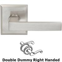 Omnia Industries - Square Prodigy - Double Dummy Square Right-Handed Lever with Rectangular Rose in Satin Nickel Lacquered Plated, Lacquered