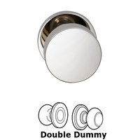 Omnia Industries - Puck Prodigy - Double Dummy Puck Knob with Modern Rose in Polished Nickel Plated, Lacquered