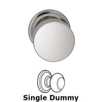 Omnia Industries - Puck Prodigy - Single Dummy Puck Knob with Traditional Rose in Polished Nickel Plated, Lacquered