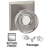Omnia Industries - Prodigy - Passage Puck Glass Knob With Rectangular Rose in Polished Chrome