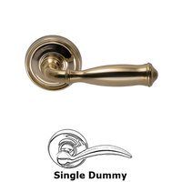 Omnia Industries - Door Levers - Single Dummy Traditions Classic Lever with Medium Radial Rosette in Polished Brass Unlacquered
