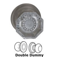Omnia Industries - Prodigy - Double Dummy Glass Knob with Traditional Rose in Satin Nickel