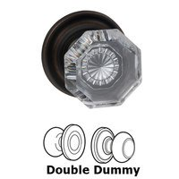 Omnia Industries - Prodigy - Double Dummy Glass Knob with Traditional Rose in Tuscan Bronze
