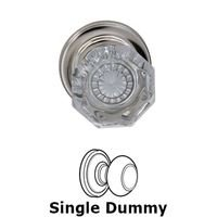 Omnia Industries - Prodigy - Single Dummy Glass Knob with Traditional Rose in Polished Nickel Lacquered