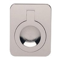 "Omnia Industries - Flush Pulls - 2"" (51mm) Rectangular Flush Ring Pull in Polished Nickel"