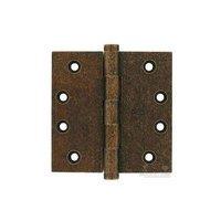 "Omnia Industries - Solid Brass Door Hinges - 4"" x 4"" Plain Bearing, Button Tip Solid Brass Hinge in Vintage Copper"