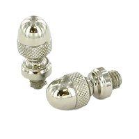 Omnia Industries - Hinge Finials - Pair of Acorn Finials in Polished Nickel