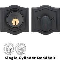 Omnia Industries - Prodigy Auxiliary Deadbolts - Arched Auxiliary Single Deadbolt in Oil-Rubbed Bronze