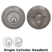 Omnia Industries - Prodigy Auxiliary Deadbolts - Colonial Single Cylinder Deadbolt in Satin Nickel Lacquered