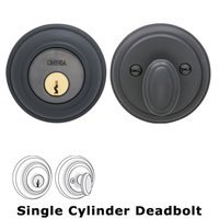 Omnia Industries - Prodigy Auxiliary Deadbolts - Colonial Single Cylinder Deadbolt in Oil Rubbed Bronze Lacquered