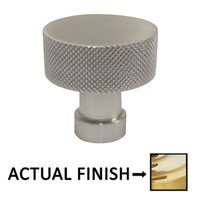 """Omnia Industries - Ultima III - 1"""" Dia. Knurled Cabinet Knob In Oil Rubbed Bronze Lacquered"""