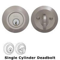 Omnia Industries - Prodigy Auxiliary Deadbolts - Modern Auxiliary Single Deadbolt in Satin Nickel Lacquered Plated, Lacquered