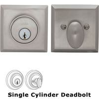 Omnia Industries - Prodigy Auxiliary Deadbolts - Rectangular Auxiliary Single Deadbolt in Satin Nickel Lacquered Plated, Lacquered
