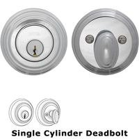 Omnia Industries - Prodigy Auxiliary Deadbolts - Traditional Auxiliary Single Deadbolt in Polished Chrome Plated