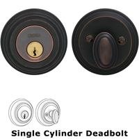 Omnia Industries - Prodigy Auxiliary Deadbolts - Traditional Auxiliary Single Deadbolt in Tuscan Bronze