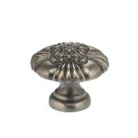 "Omnia Industries - Ornate Knobs & Pulls - 1 1/8"" Floral Center Knob Pewter"
