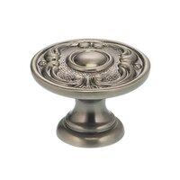 "Omnia Industries - Ornate Knobs & Pulls - 1 13/16"" Circle and Scroll Knob Pewter"