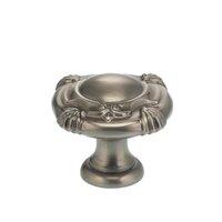 """Omnia Industries - Ornate Knobs & Pulls - 1 3/16"""" Crest Knob Pewter"""
