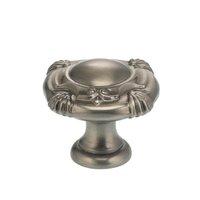 """Omnia Industries - Ornate Knobs & Pulls - 1 1/2"""" Crest Knob Pewter"""