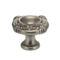 """Omnia Industries - Ornate Knobs & Pulls - 1 7/8"""" Crest Knob Pewter"""