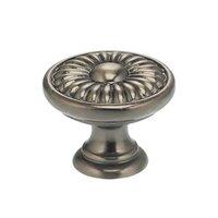 "Omnia Industries - Ornate Knobs & Pulls - 1 9/16"" Daisy Knob Pewter"