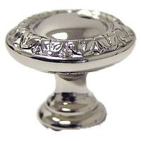 """Omnia Industries - Ornate Knobs & Pulls - 1 9/16"""" Border Knob Polished Polished Nickel Lacquered"""