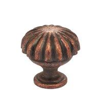 "Omnia Industries - Vintage - 1 3/16"" Melon Knob Vintage Copper"