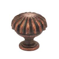 "Omnia Industries - Vintage - 1 3/8"" Melon Knob Vintage Copper"