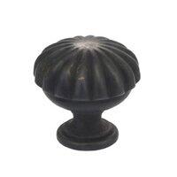 "Omnia Industries - Vintage - 1 3/8"" Melon Knob Vintage Brass"