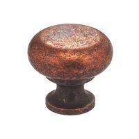 """Omnia Industries - Vintage - 1 9/16"""" Mushroom Knob Vintage Copper"""