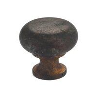 """Omnia Industries - Vintage - 1 9/16"""" Mushroom Knob Vintage Brass"""
