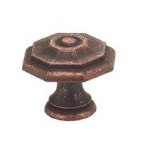 "Omnia Industries - Vintage - 1 9/16"" Octagonal Knob Vintage Copper"