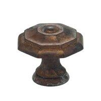 "Omnia Industries - Vintage - 1 9/16"" Octagonal Knob Vintage Brass"