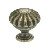 "Omnia Industries - Vintage - 1 3/8"" Melon Knob Vintage Iron"