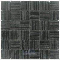 """Optimal Tile - Porcelain Tile - 1 7/8"""" x 1 7/8"""" Porcelain Mosaic in Black"""