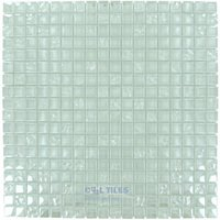 "Optimal Tile - Square Glass Tile - 5/8"" x 5/8"" Iridescent Glass Mosaic in Light"