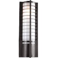 "PLC Lighting - Contemporary Outdoor Light Fixtures - CFL 7 1/4"" Exterior Light in Bronze"