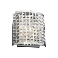 PLC Lighting - Modern Wall Sconces - Wall Light in Polished Chrome with Asfour Handcut Crystal